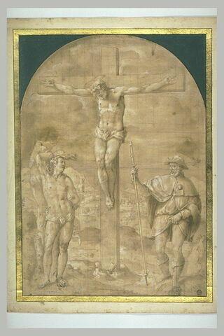 Christ en Croix entre saint Sébastien et saint Roch