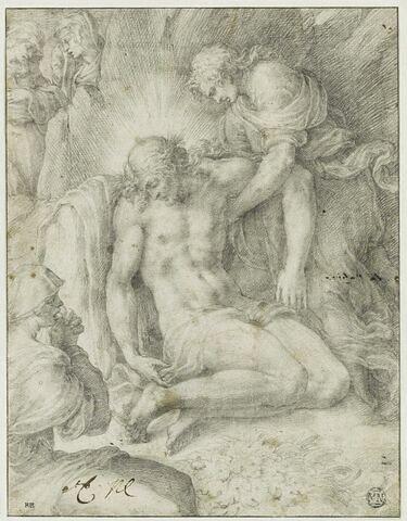Le Christ mort soutenu par saint Jean et pleuré par les Saintes Femmes