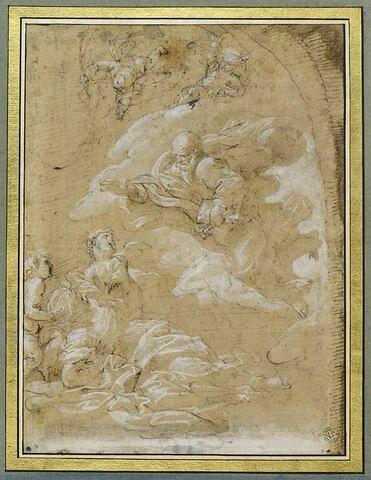Saint Pierre apparaissant à sainte Agathe dans les prisons de Catane