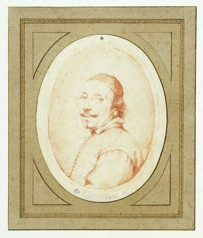 Portrait de l'Albane en buste