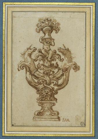 Elément décoratif avec emblèmes des Albergati de Bologne