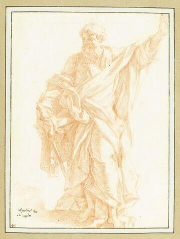 Saint Paul tenant une épée et élevant la main gauche au ciel