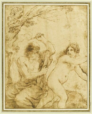 Saint Jérôme tourmenté par le diable déguisé en femme nue