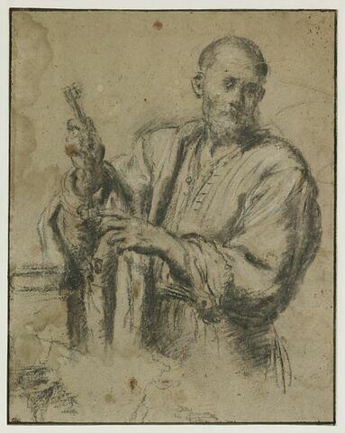 Saint Pierre, à mi-corps, tenant les clefs