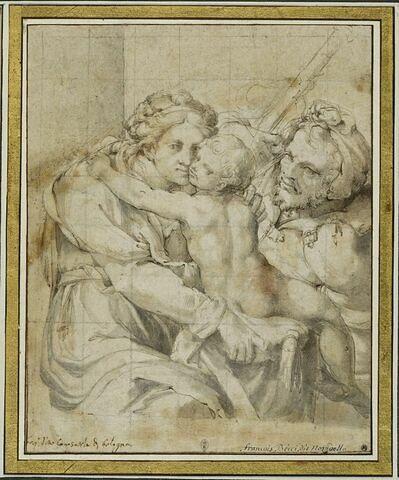 La Vierge assise avec l'Enfant Jésus, et saint Joseph