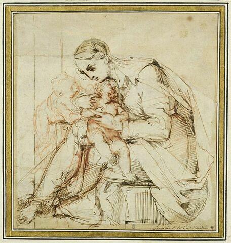 La Vierge tenant l'Enfant et le petit saint Jean
