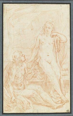 Hercule file le lin au pied de la reine Omphale