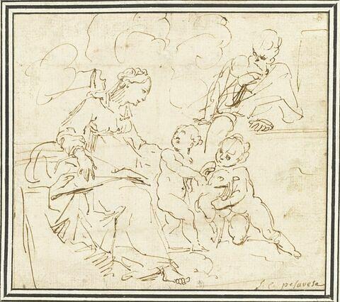 Saint Joseph et la Vierge regardent l'Enfant jouer avec le petit saint Jean