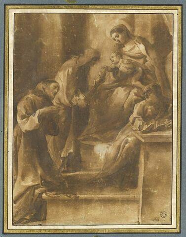 Sainte Famille avec sainte Catherine de Sienne et saint François d'Assise