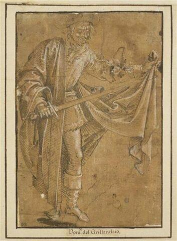 Saint Martin debout, coupant son manteau avec son épée