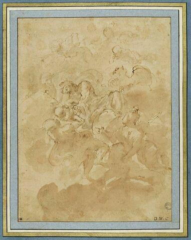 Jupiter confiant le jeune Bacchus à Minerve