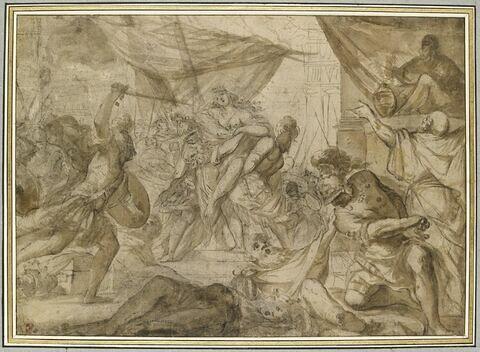 Des soldats enlèvent une reine et l'emportent dans un navire
