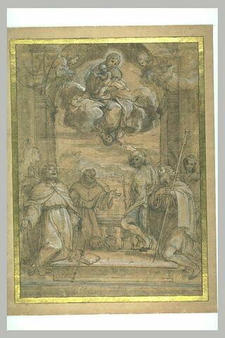 Etude d'ensemble pour la Madonna di San Ludovico