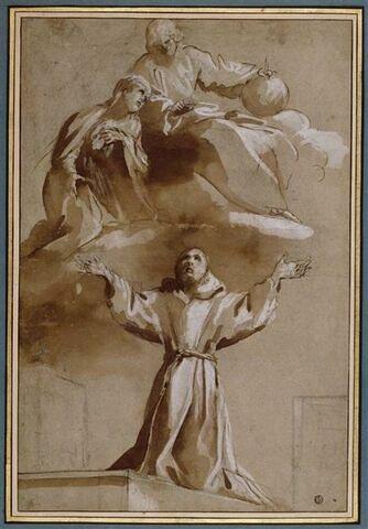 Apparition de la Vierge et du Christ à saint François d'Assise