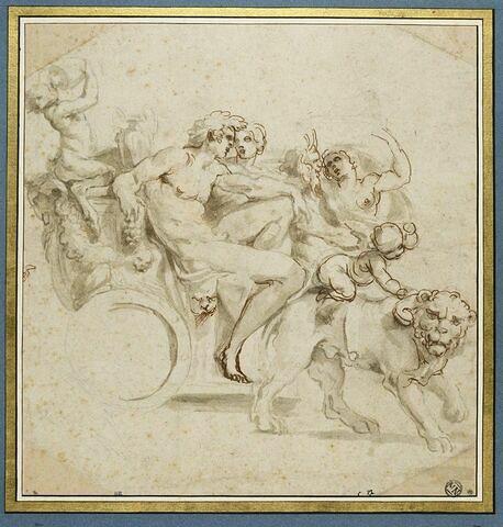Etude pour le groupe de Bacchus et Ariane