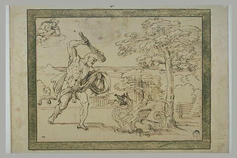 Hercule combattant le dragon du jardin des Hespérides