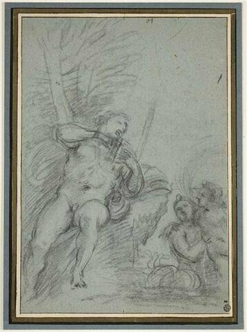 Polyphème jouant de la flûte pour charmer Galatée