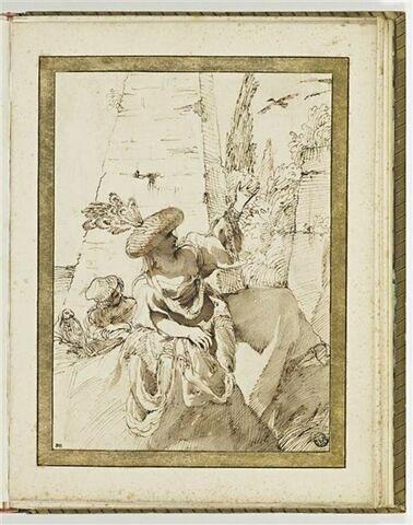 Bohémienne avec une fillette et une chouette