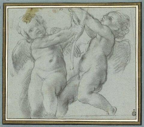 Deux putti se disputant une palme : Eros et Antéros