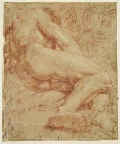Homme nu, de dos, à demi allongé