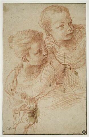Deux jeune filles se tenant par l'épaule.
