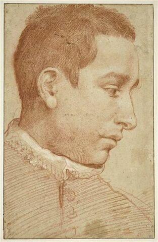 Portrait d'homme de profil à droite