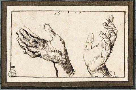 Etude de mains en oraison
