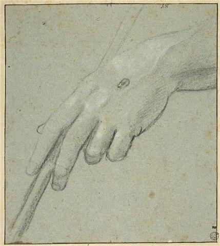 Etude de la main gauche du Christ