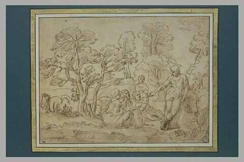 Saint Jean-Baptiste prêchant dans un paysage