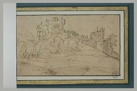 Un château-fort dans un paysage