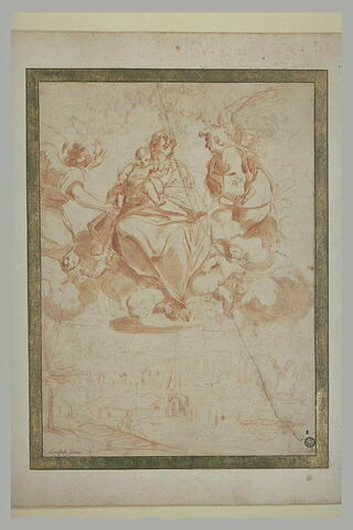 La Vierge et l'Enfant au-dessus de Bologne