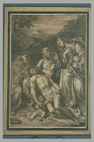 Déploration du Christ par la Vierge, saint François et sainte Madeleine