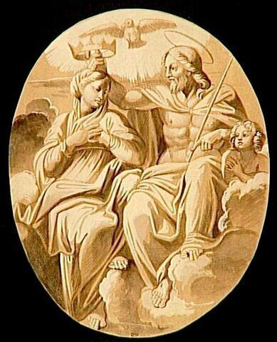 Le Couronnement de la Vierge dans un tondo