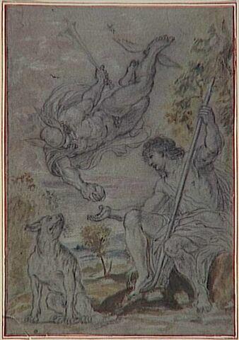 Mercure apportant la pomme au berger Pâris