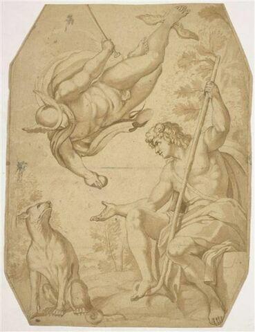 Le Berger Pâris recevant la pomme du dieu Mercure