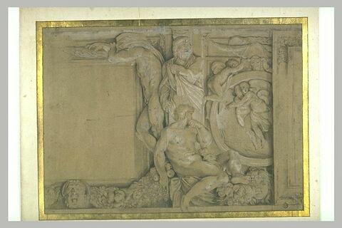 Figures entourant des médaillons de la voûte de la galerie Farnèse