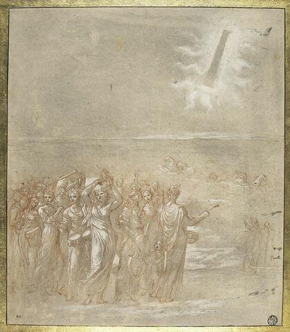 La Procession des hébreux après le passage de la mer Rouge
