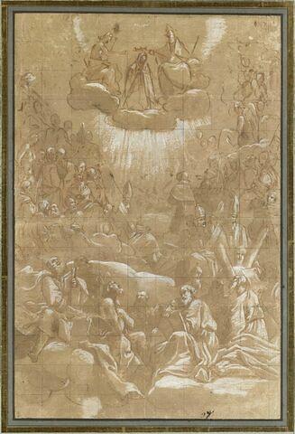 Le Couronnement de la Vierge dans le ciel en présence des bienheureux