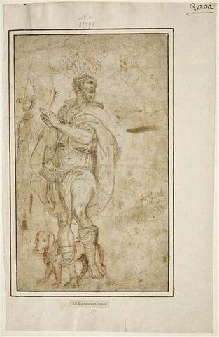 Saint Roch tourné vers un ange