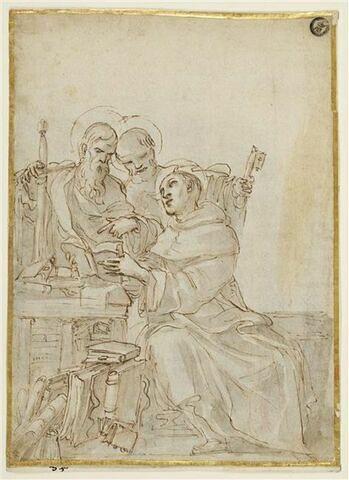 Saint Benoît avec saint Pierre et saint Paul