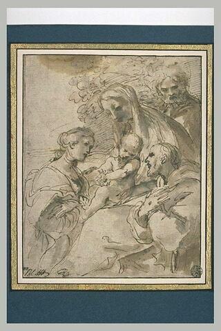 Sainte Famille avec saint François et sainte Catherine