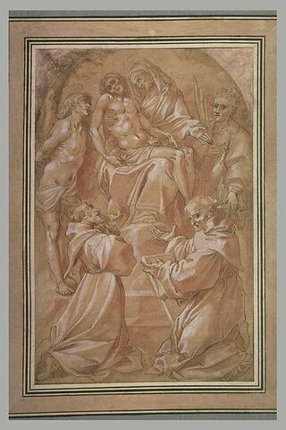 La Vierge de Pitié entourée de quatre saints