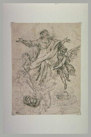 La Vierge portée par des anges