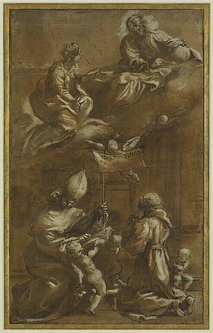 Le Christ et la Vierge apparaissant à saint François et saint Antonin