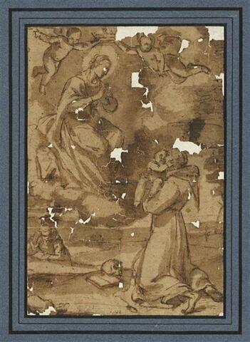Saint François tenant l'Enfant devant la Vierge