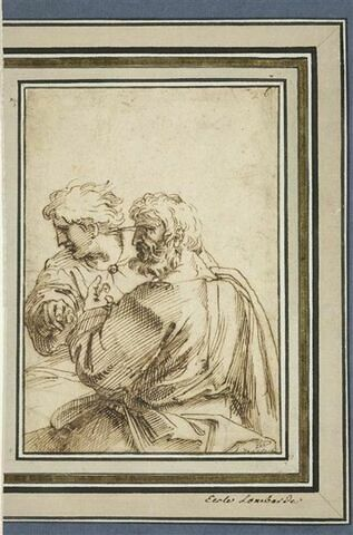 Deux hommes en buste de profil