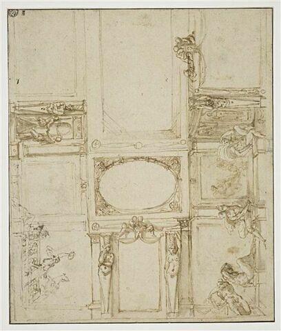 Projet pour le décor de la voûte de la Galerie Farnèse