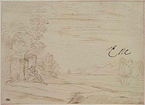 La Vierge et l'Enfant sous un palmier