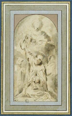 Madone du Rosaire avec saint Dominique