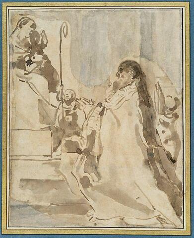 San Pétrone adorant la Vierge à l'Enfant